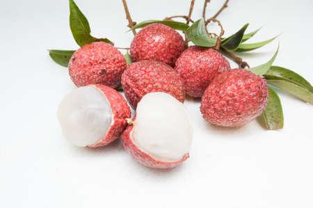 lychees: Fresh ripe lychees Stock Photo