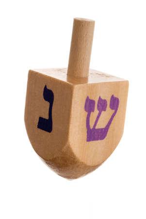 dreidel: Hanukkah dreidel, isolated on white background.