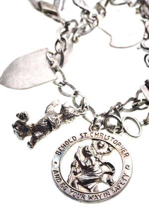 antiken st. Christopher Medaille Charme auf Armband