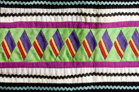 Native American Seminole Handmade Quilted Patterns Stock Photo Custom Native American Quilt Patterns