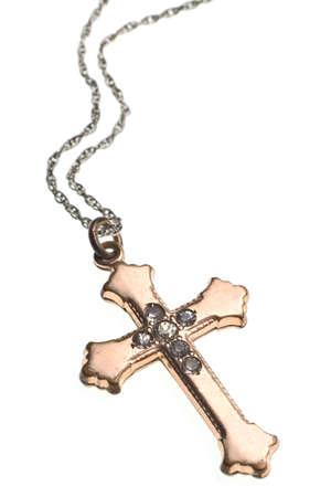 Antique Irish Cross isoliert auf wei�em Hintergrund Lizenzfreie Bilder