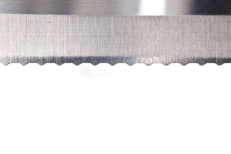 serrated: knife edge isolated on a pure white background