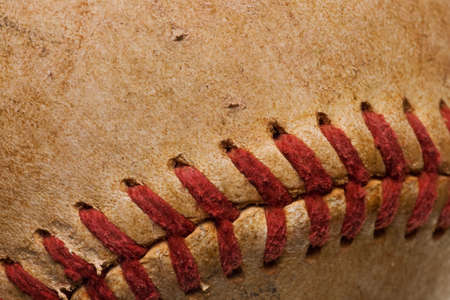 baseball with red stitching baseball isolated on white background