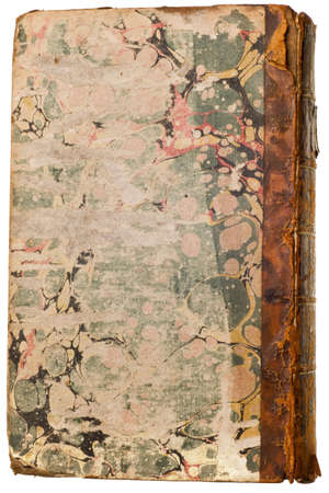 quarterly: 1700s Mens Quarterly Magazine isolated on white background Stock Photo