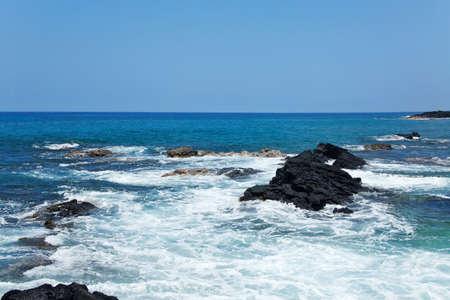 Coastal view on the Big Island of Hawaii with lava rocks Stock Photo - 5225549