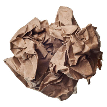 crumpled paper ball isolated on a white background Stock Photo - 5523202