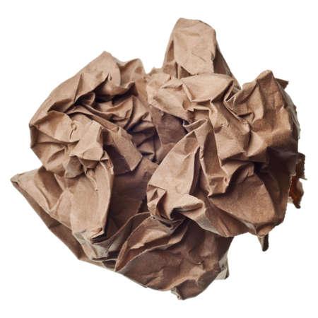 Palla di carta spiegazzato isolato su uno sfondo bianco  Archivio Fotografico - 5523202