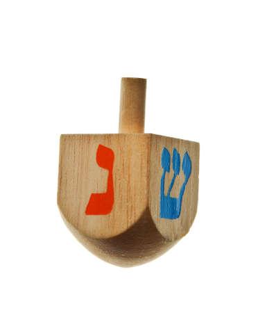hanukkah dreidel isolated on a white background Reklamní fotografie
