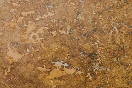 Travertin Stone Floor Tile Abstract Background Closeup