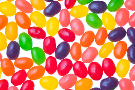 jelly beans isolated on a white background photo