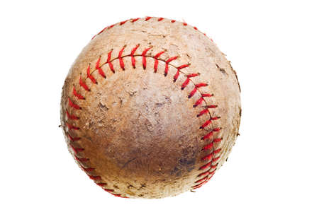 baseball with red stitching baseball isolated on white background photo
