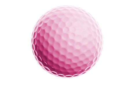 pink golf ball isolated on white background Stock Photo