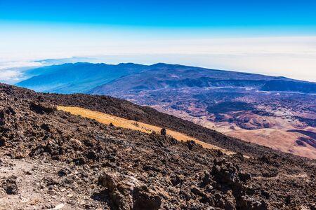 beautiful landscape with mountains Teide temerife Stock Photo