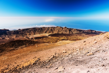 beautiful landscape with mountains Teide temerife Stock Photo
