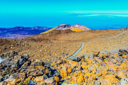 landscape with Pico Viejo volcano, Tenerife, Spain Stock Photo
