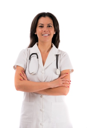 woman doctor isolated white background photo