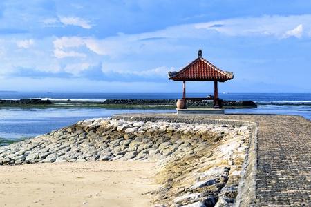 rest-houses at sanur beach on bali