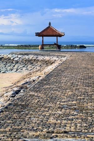 sanur: rest-houses at sanur beach on bali