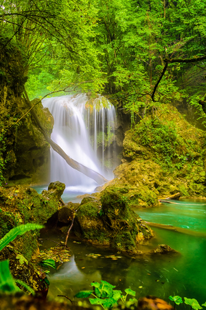 La Vaioaga Waterfall, Beusnita National Park, Romania photo
