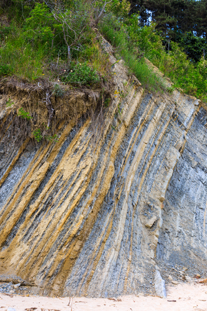 stratification: texture layers of earth