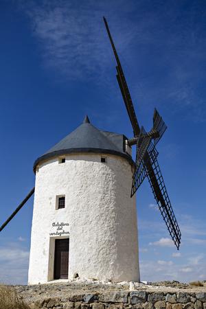 mancha: Windmills in Spain, La Mancha, famous Don Quijote location Stock Photo