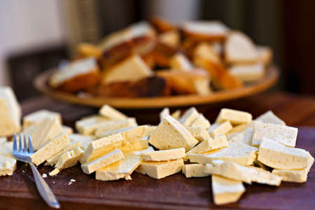 cheese platter: Romanian traditional cheese platter with cheese