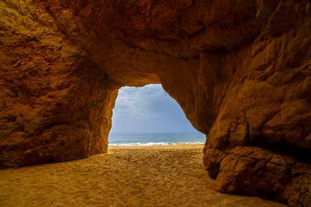 algarve: beautiful cave in the Algarve Portugal