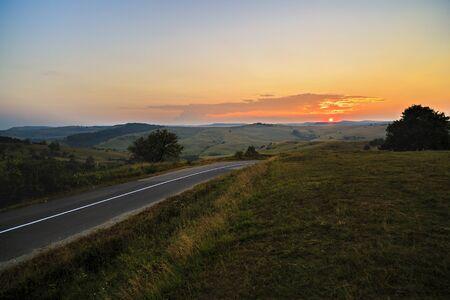 fagaras: a beautiful mountain road in Fagaras mountains Romania Stock Photo