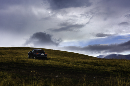 a 4x4 car on a mountain