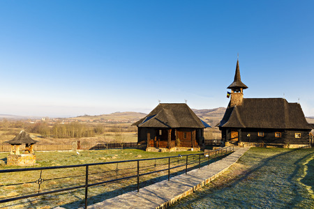 Old wooden church in Romania Stock Photo