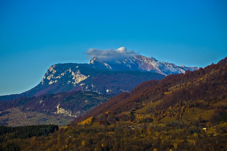 Beautiful landscape of mountains in Europe
