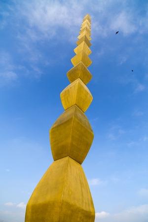constantin: The Infinity Column of Constantin Brancusi, Targu Jiu, Romania Stock Photo