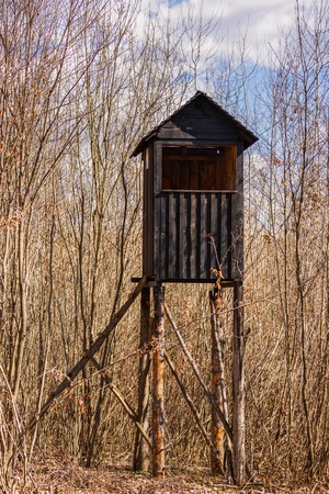 hunter's cabin: Tower for hunters in the woods