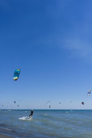 Pictures of Long Beach in Montenegro meeting of kitesurfers (03-August-2017)