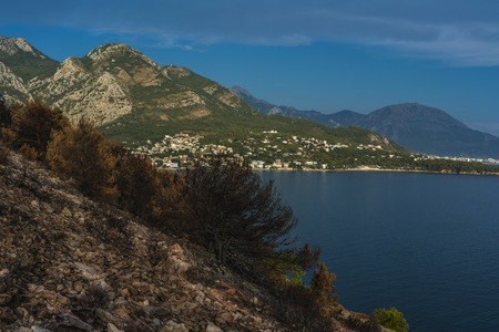 Dramatic image after a vegetation fire in Montenegro