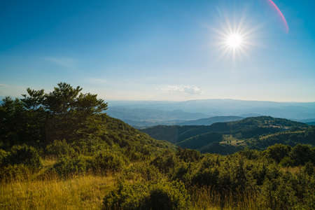 plateau: Mountain scenery on a summer day in Balkan Europe Stock Photo