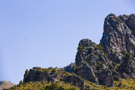 the rocky mountain structure in Montenegro