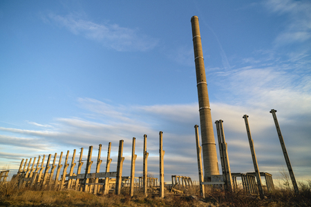 Ruins of industrial buildings, abandoned industry in the Eastern countries of Europe