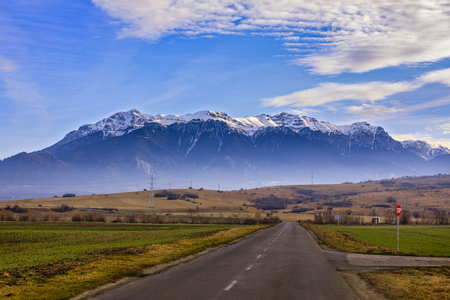 Bucegi mountains, Brasov, Romania: Landscape view in the sunniday light