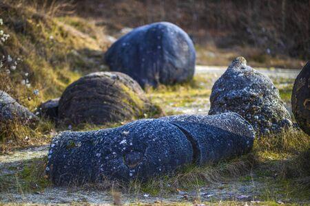 Trovantii – the strangest living stones in Romania.
