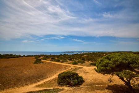 Beautiful landscape with a sea shore on the island of Palma De Mallorca. Foto de archivo