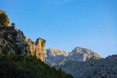 Beautiful mountain landscape on the island of Palma De Mallorca (Balearic Islands Spain)