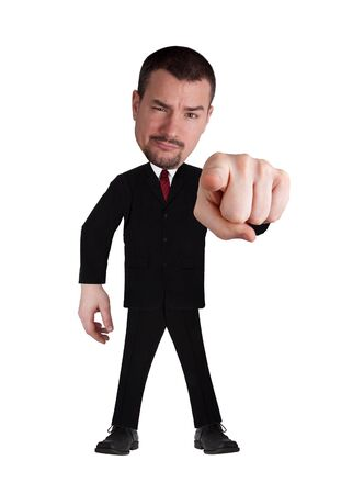 funny businessman pointing at you  photo