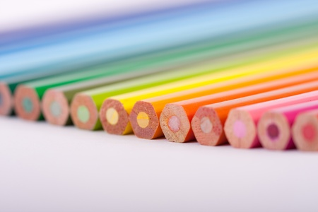 colouring pencil ends - macro Stock Photo