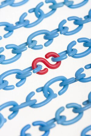 Letters C as chain and letter S  concept - abstract