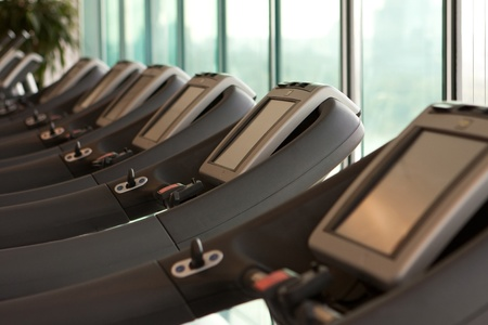 treadmill equipment - computer - fitness centre photo