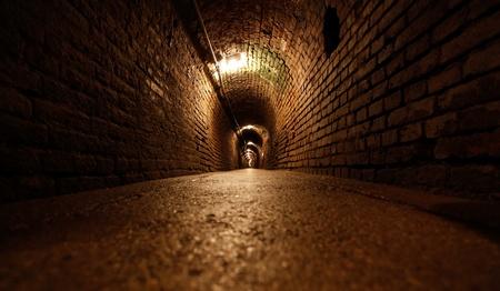 Very long underground mine tunnel Stock Photo - 13341672