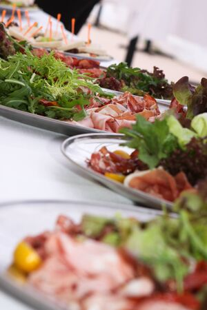 dine: Catering food at a party