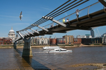 millennium bridge: Millenium Bridge in central London