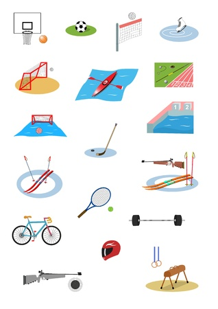 Illustration of sport icon set Vector